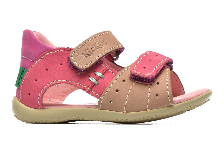 Sandalen Kickers BOPING rosa ansicht von hinten