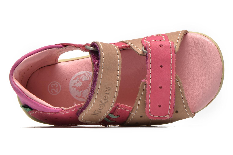 Sandalen Kickers BOPING rosa ansicht von links