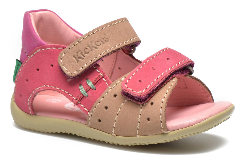Sandalen Kickers BOPING rosa detaillierte ansicht/modell