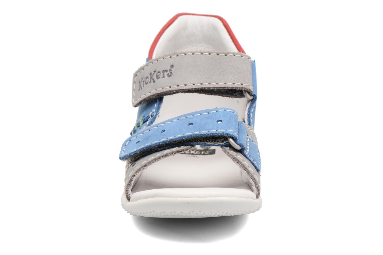 Sandales et nu-pieds Kickers BOPING Gris vue portées chaussures