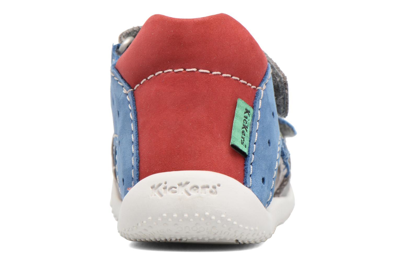 Sandales et nu-pieds Kickers BOPING Gris vue droite