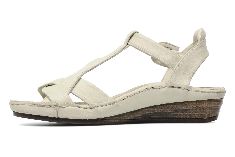 Sandales et nu-pieds Karston Iris Blanc vue face