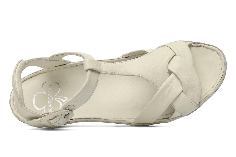Sandales et nu-pieds Karston Iris Blanc vue gauche