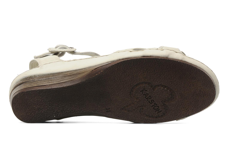 Sandales et nu-pieds Karston Iris Blanc vue haut