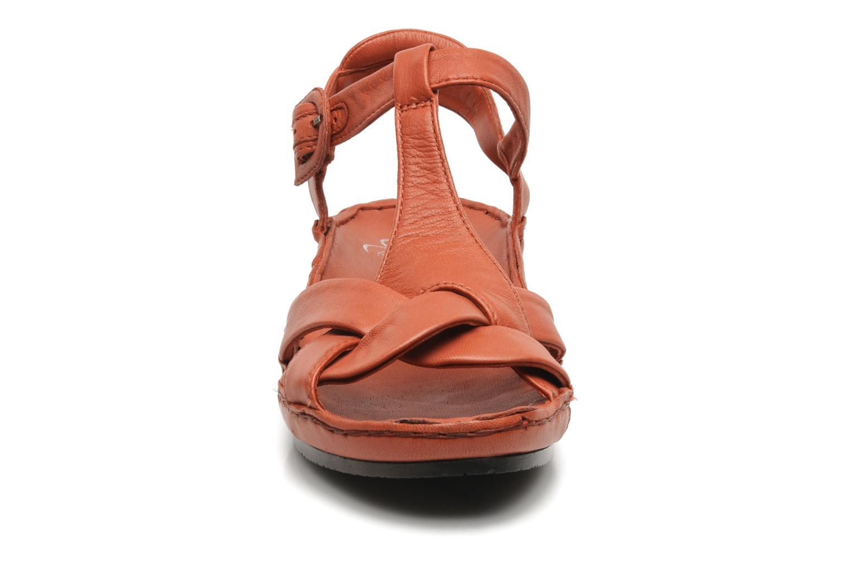 Sandalen Karston Iris rot schuhe getragen