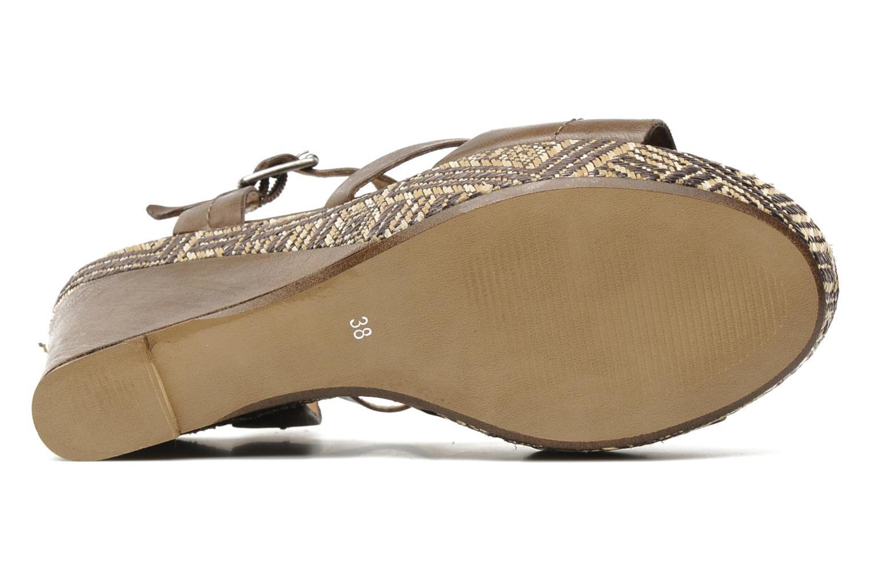 Sandales et nu-pieds Karston Lider Marron vue haut