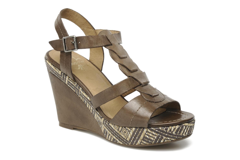 Sandales et nu-pieds Karston Lider Marron vue détail/paire