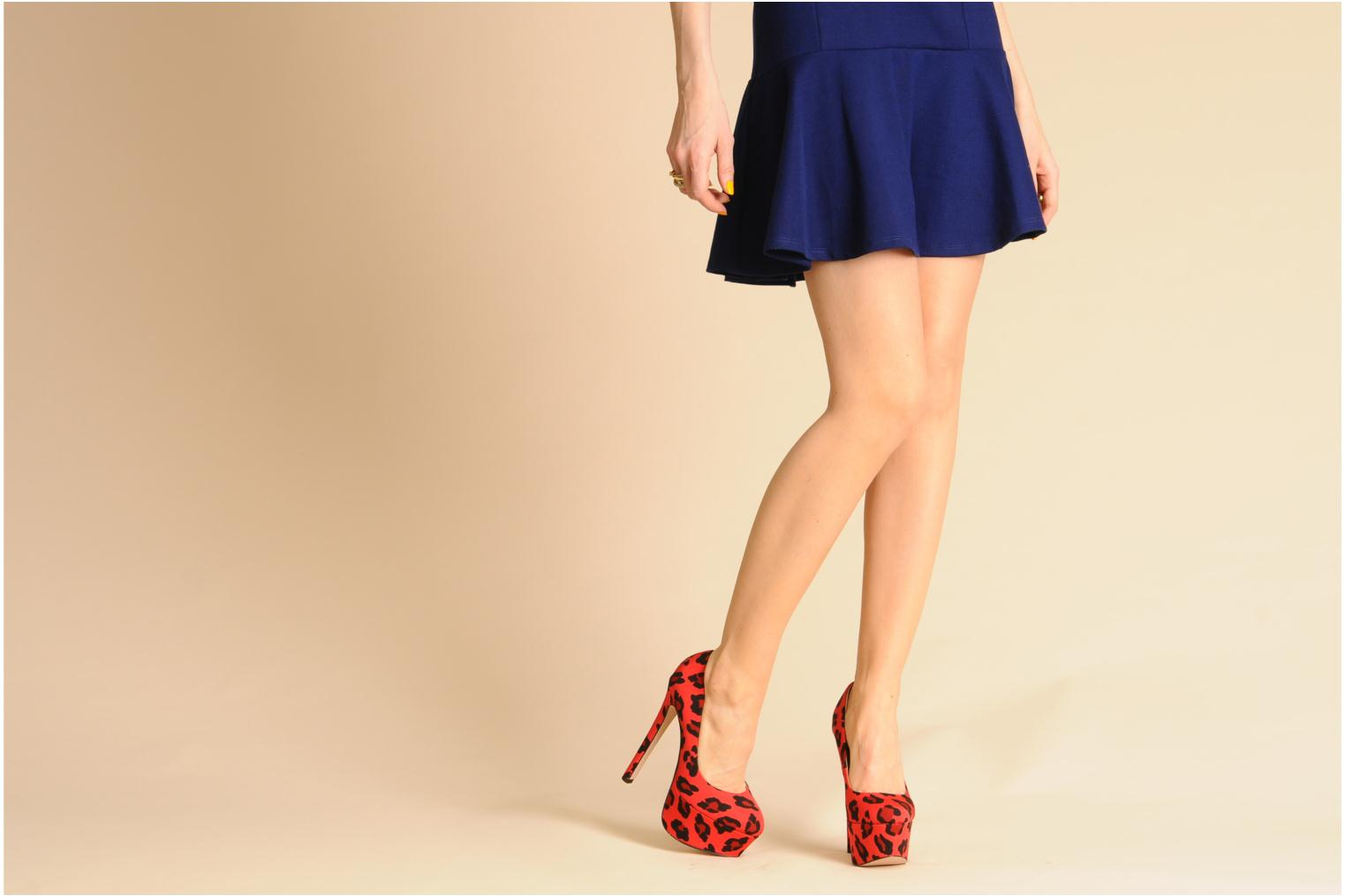 Delight Red leopard grosgrain