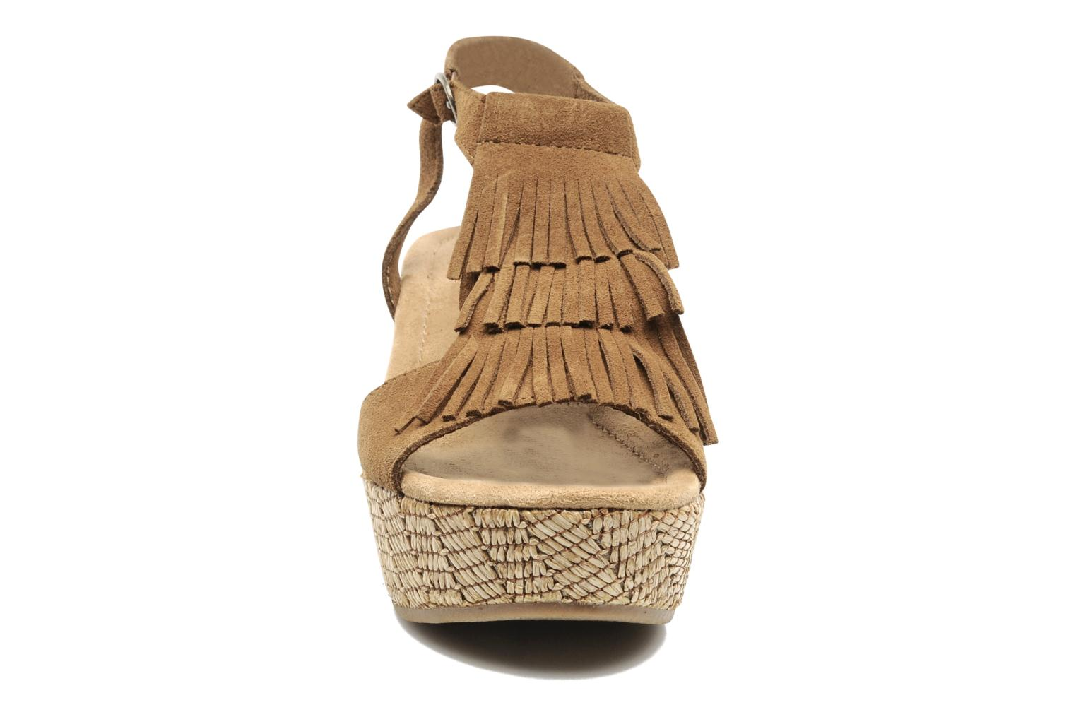 Sandals Minnetonka Central Brown model view
