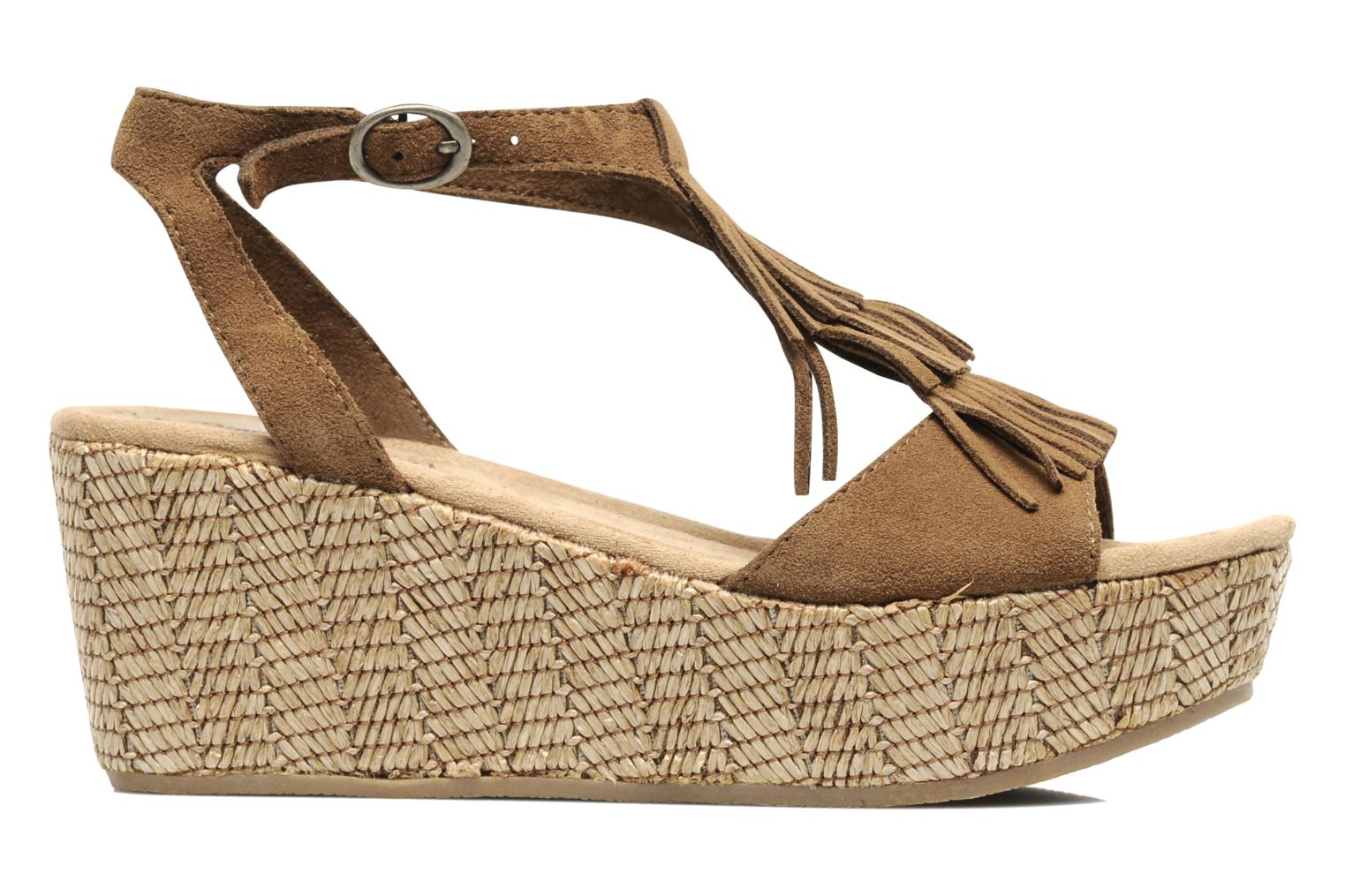Sandals Minnetonka Central Brown back view