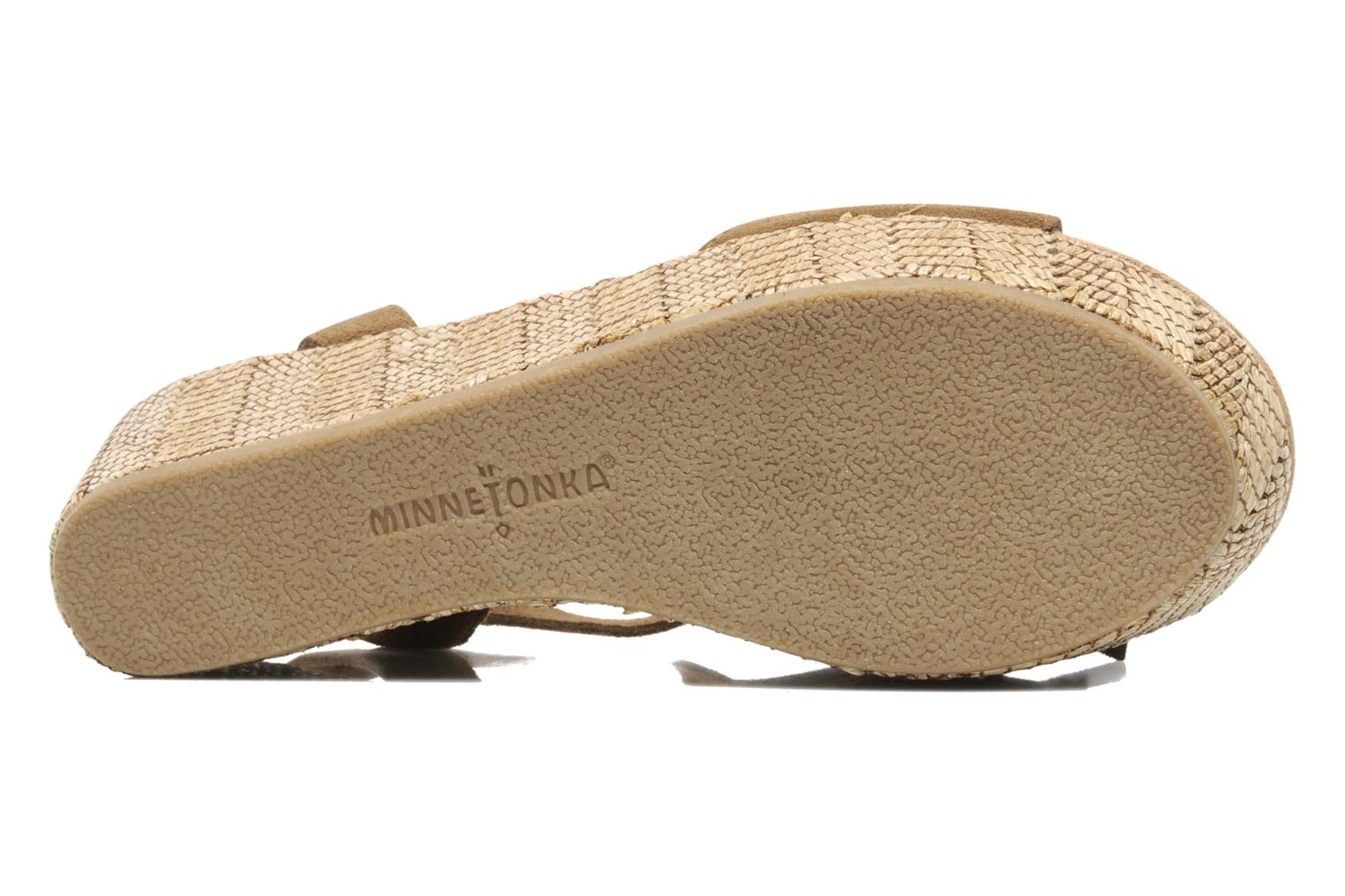 Sandals Minnetonka Central Brown view from the left