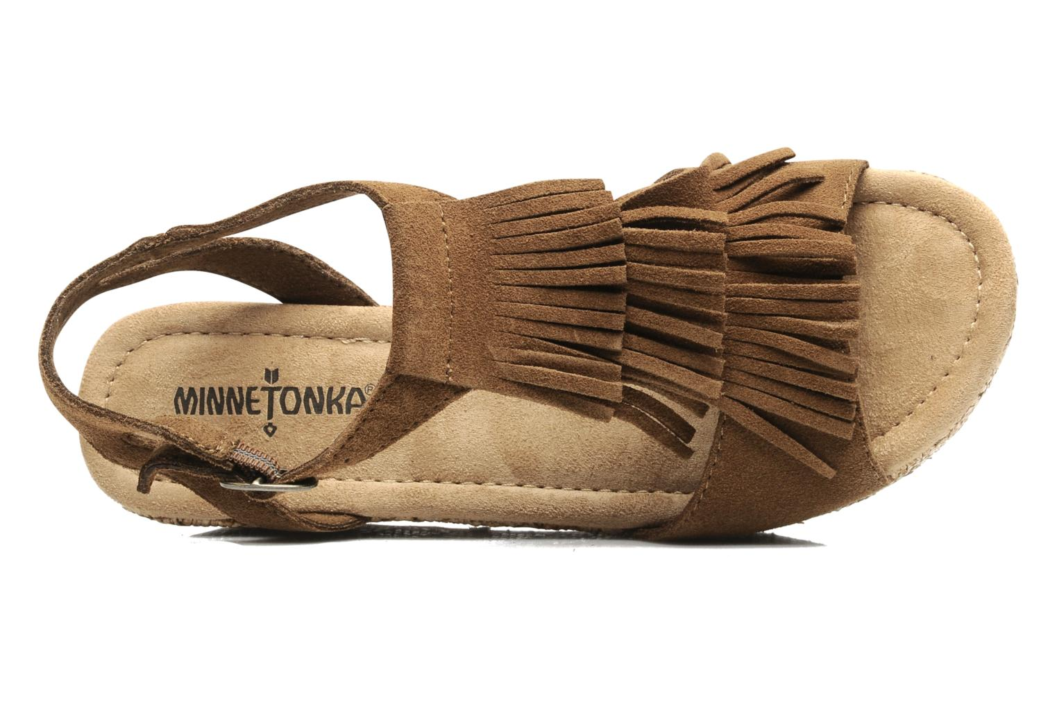 Sandals Minnetonka Central Brown view from above