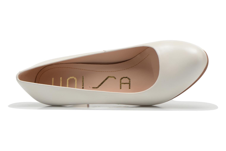 Zapatos de tacón Unisa Numis Blanco vista lateral izquierda