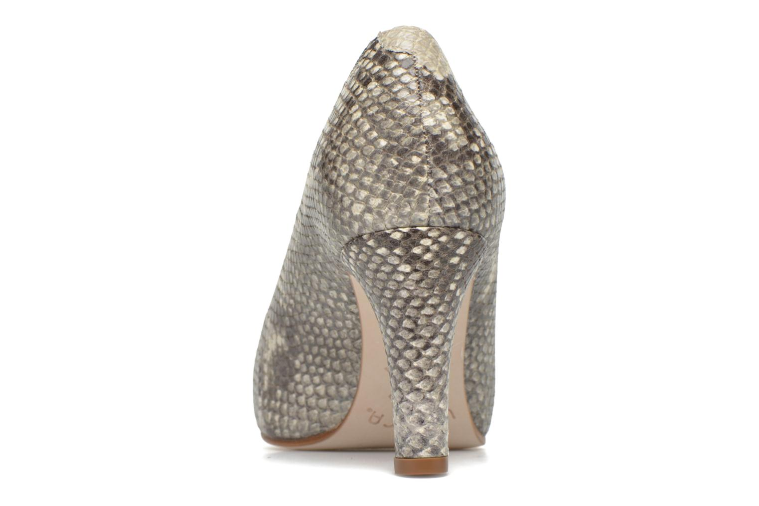 High heels Unisa Numis Beige view from the right