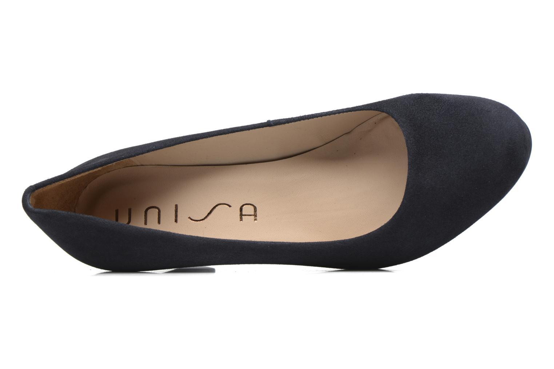 Zapatos de tacón Unisa Numis Azul vista lateral izquierda