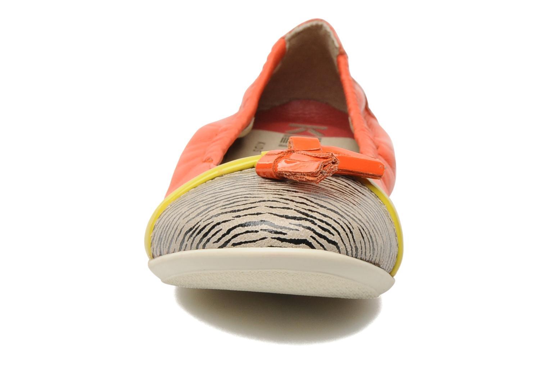 Ballerines Kenzo Yael Orange vue portées chaussures