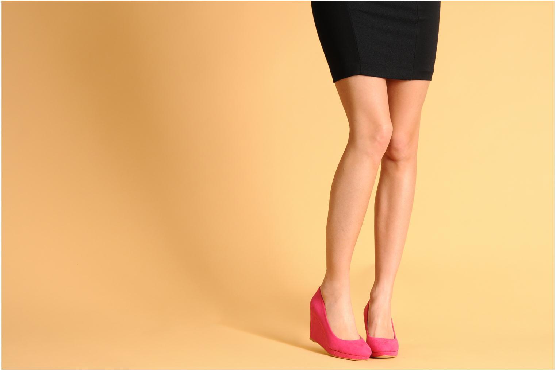 Escarpins I Love Shoes Nev 2 Rose vue bas / vue portée sac