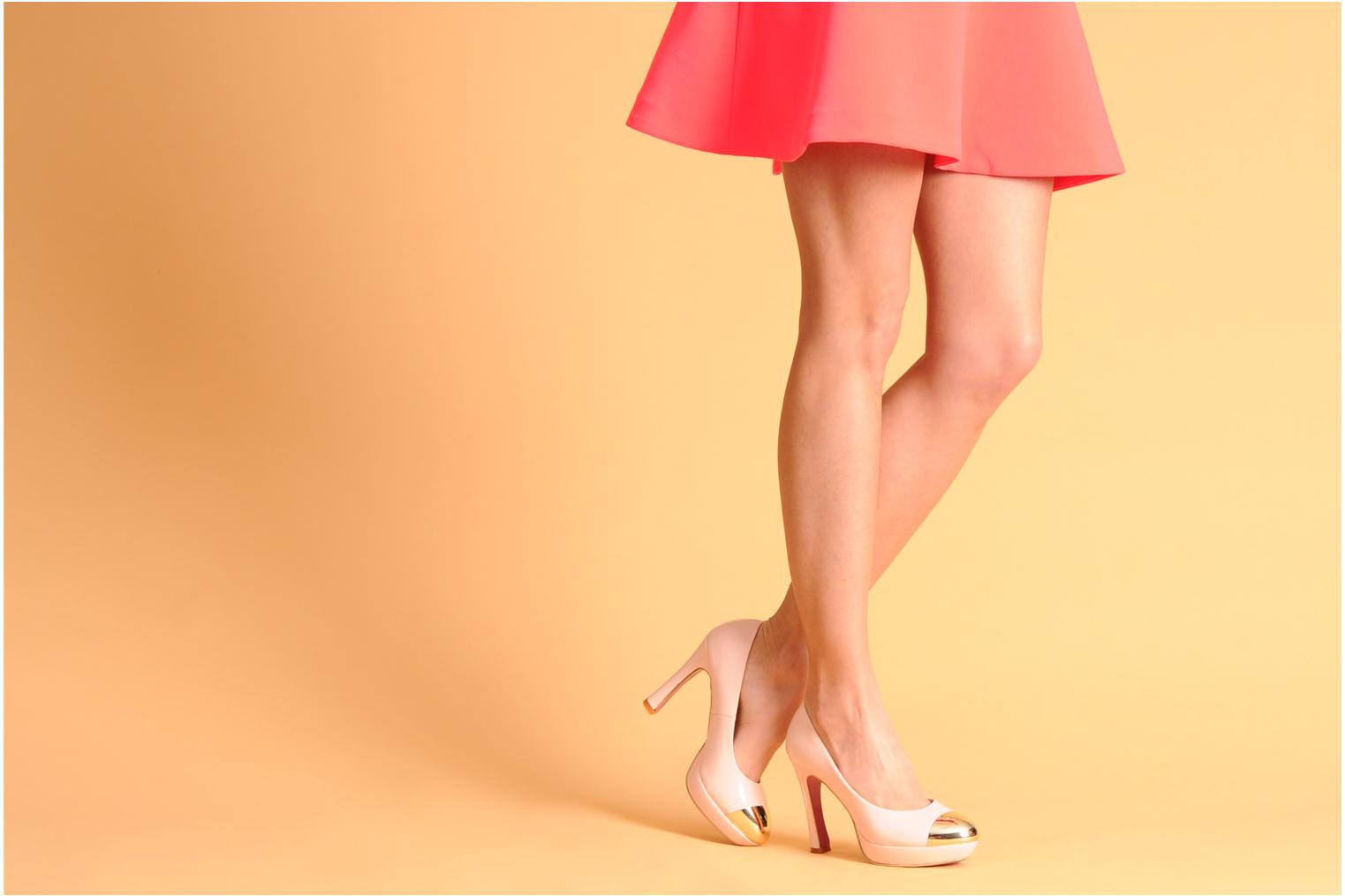 High heels I Love Shoes Phofolle Beige view from underneath / model view