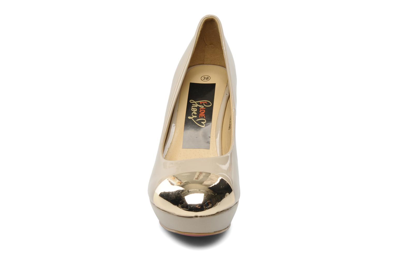 Zapatos de tacón I Love Shoes Phofolle Beige vista del modelo