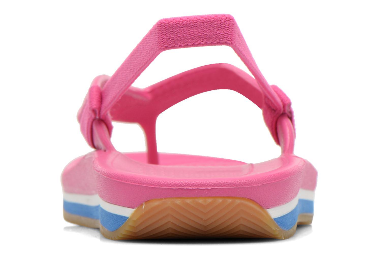 Slippers Crocs Cros Retro Flip Flop Kids Roze rechts