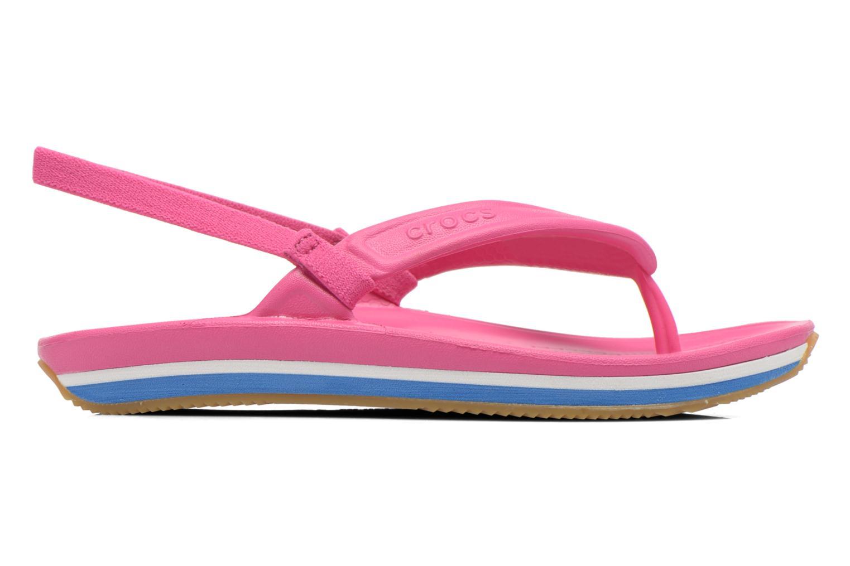 Tongs Crocs Cros Retro Flip Flop Kids Rose vue derrière
