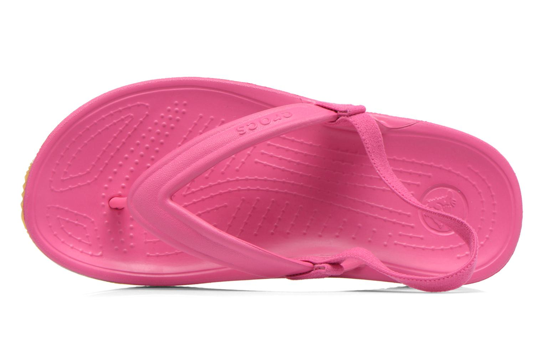 Tongs Crocs Cros Retro Flip Flop Kids Rose vue gauche