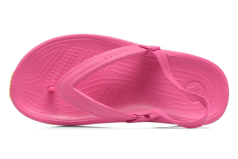 Slippers Crocs Cros Retro Flip Flop Kids Roze links