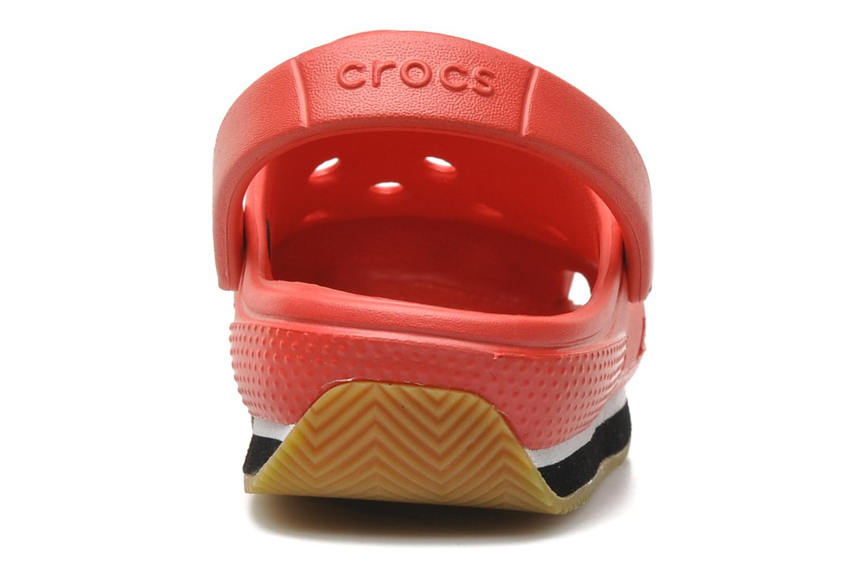 Sandalen Crocs Cros Retro Clog Kids Rood rechts