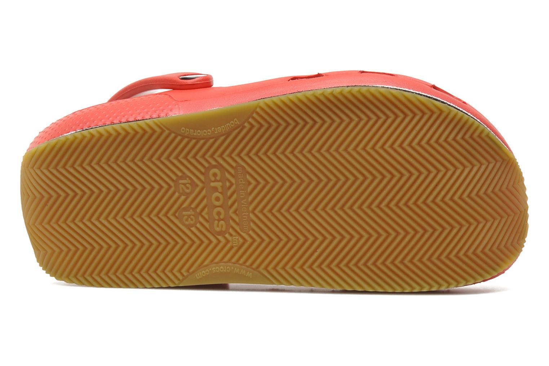Sandales et nu-pieds Crocs Cros Retro Clog Kids Rouge vue haut