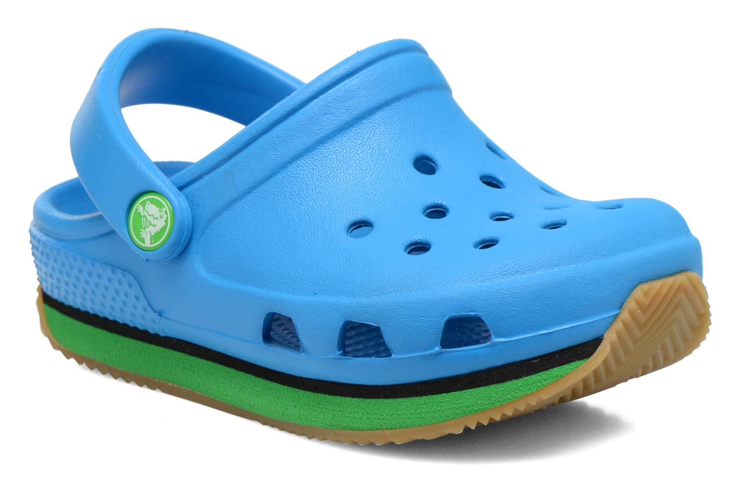 Cros Retro Clog Kids Ocean/Grass Green
