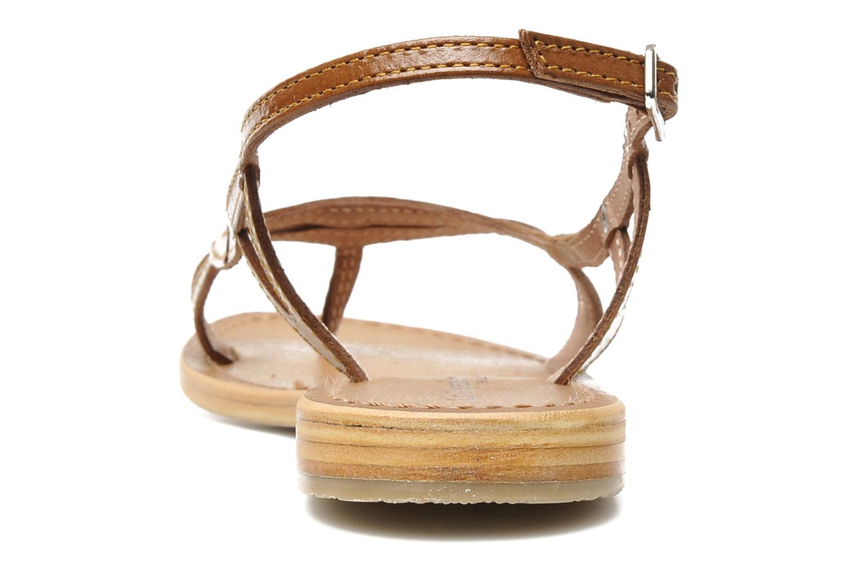 Sandales et nu-pieds Les Tropéziennes par M Belarbi Isatis Marron vue droite