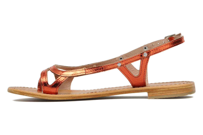 Sandales et nu-pieds Les Tropéziennes par M Belarbi Isatis Rouge vue face