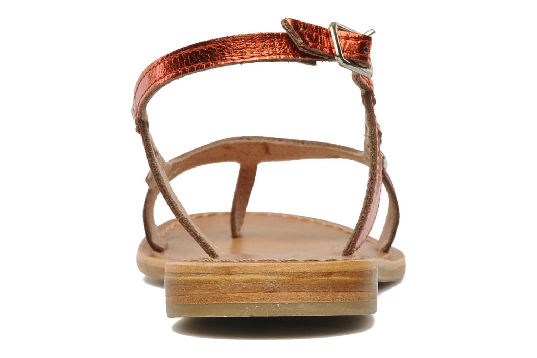 Sandales et nu-pieds Les Tropéziennes par M Belarbi Isatis Rouge vue droite
