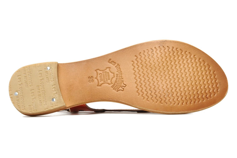 Sandales et nu-pieds Les Tropéziennes par M Belarbi Isatis Rouge vue haut