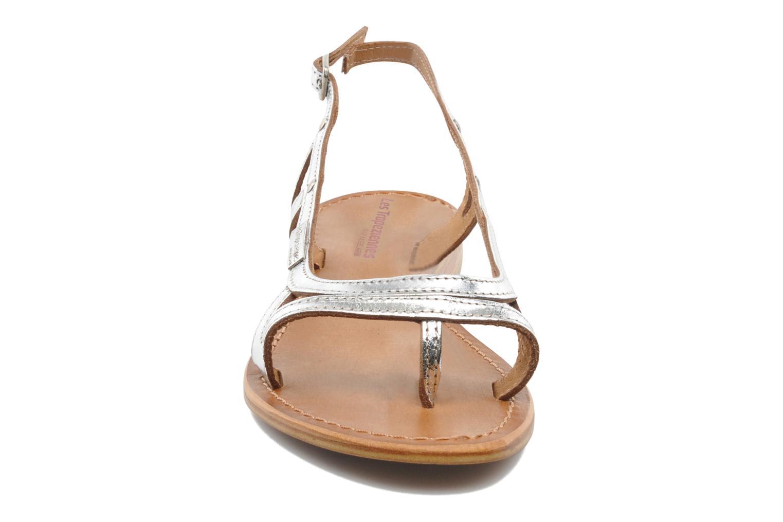 Sandalen Les Tropéziennes par M Belarbi Isatis silber schuhe getragen