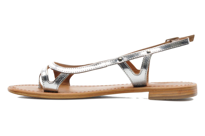 Sandals Les Tropéziennes par M Belarbi Isatis Silver front view