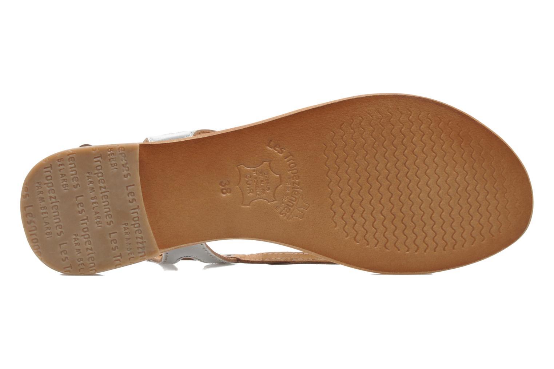 Sandales et nu-pieds Les Tropéziennes par M Belarbi Isatis Argent vue haut