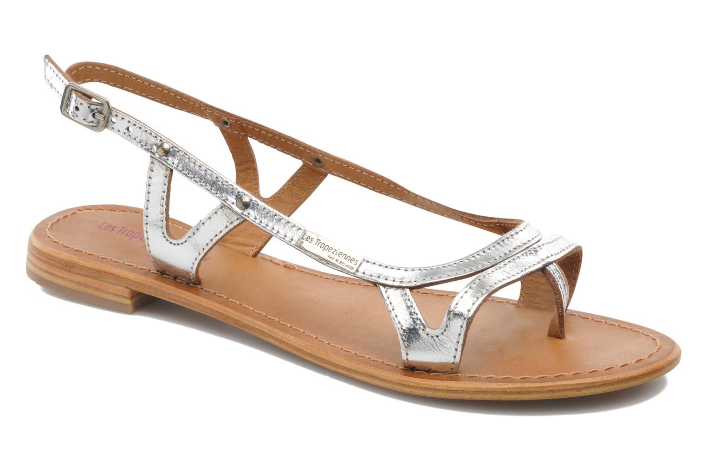 Sandals Les Tropéziennes par M Belarbi Isatis Silver detailed view/ Pair view