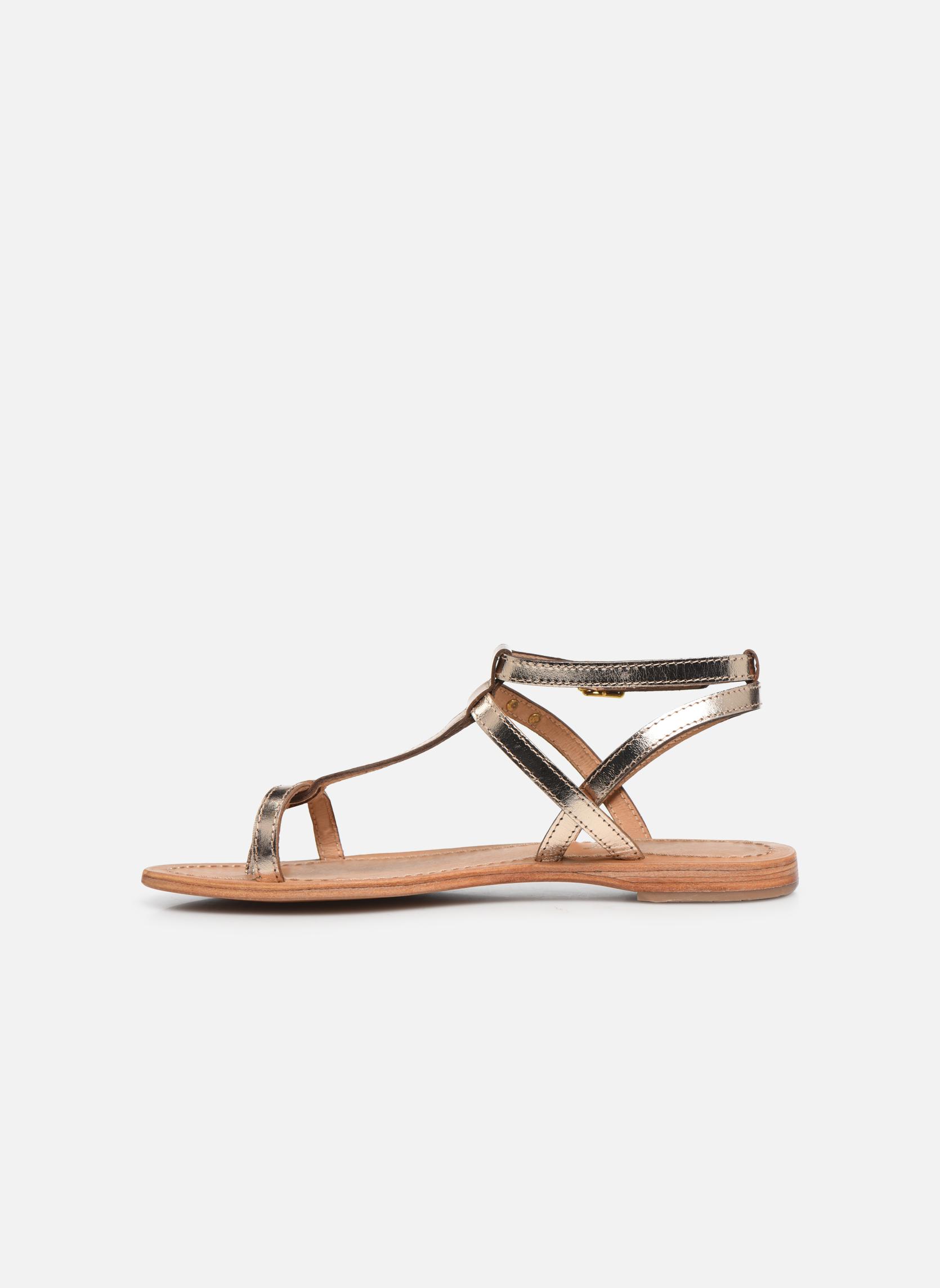 Sandales et nu-pieds Les Tropéziennes par M Belarbi Hilan Or et bronze vue face