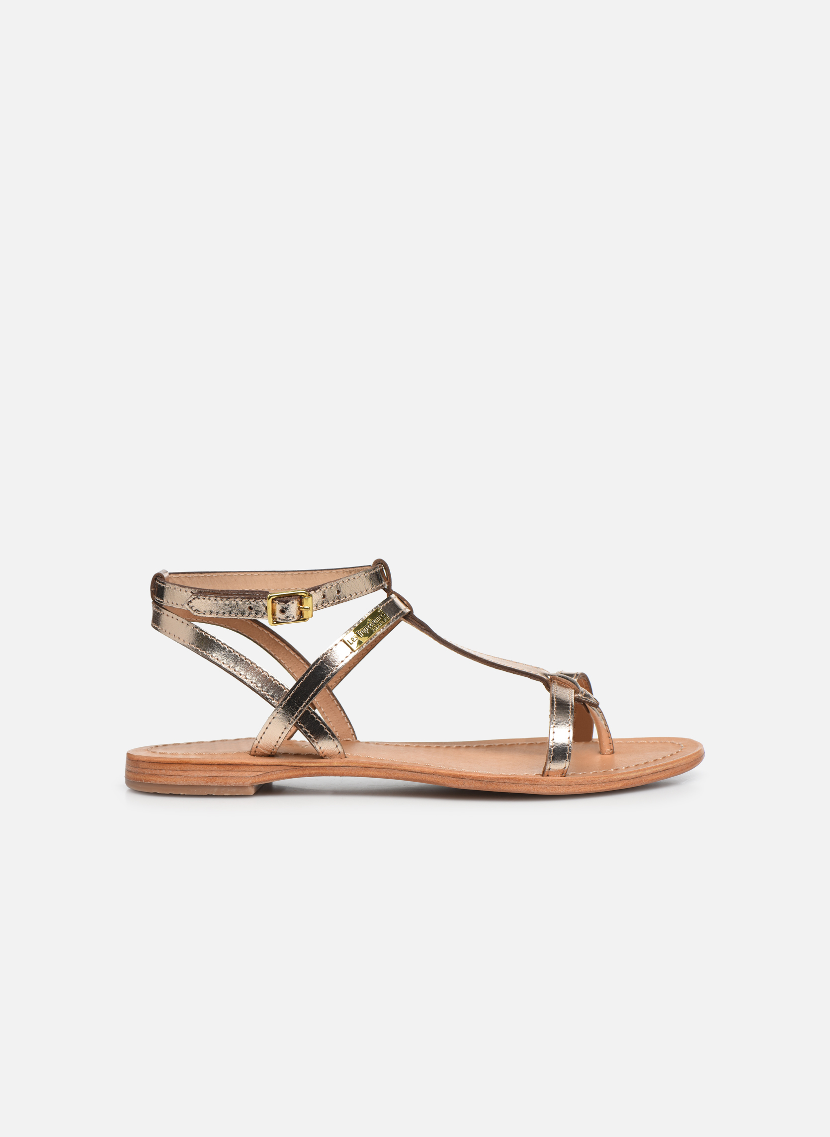 Sandales et nu-pieds Les Tropéziennes par M Belarbi Hilan Or et bronze vue derrière