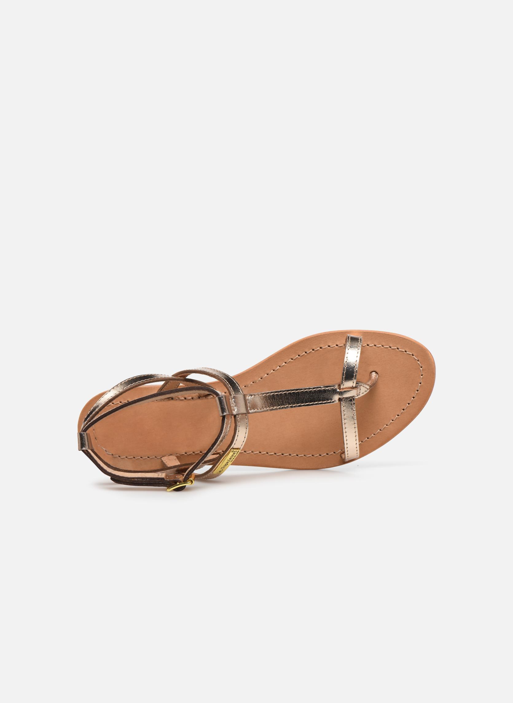 Sandales et nu-pieds Les Tropéziennes par M Belarbi Hilan Or et bronze vue gauche