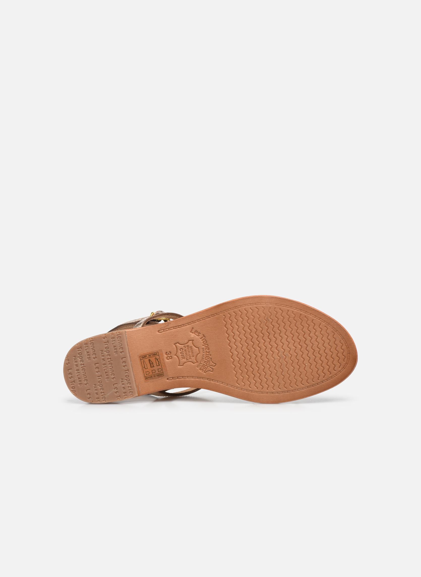 Sandales et nu-pieds Les Tropéziennes par M Belarbi Hilan Or et bronze vue haut