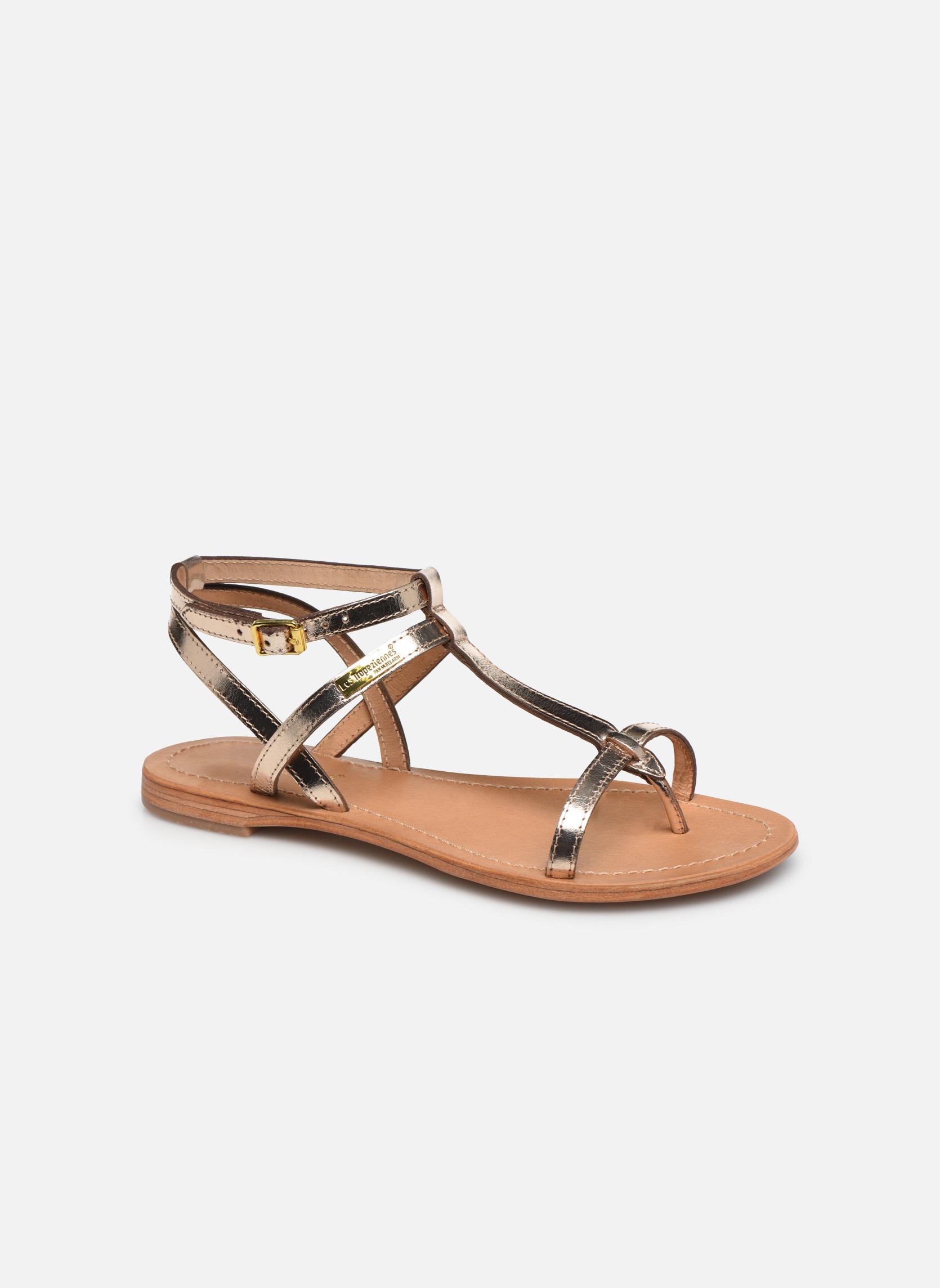 Sandales et nu-pieds Les Tropéziennes par M Belarbi Hilan Or et bronze vue détail/paire