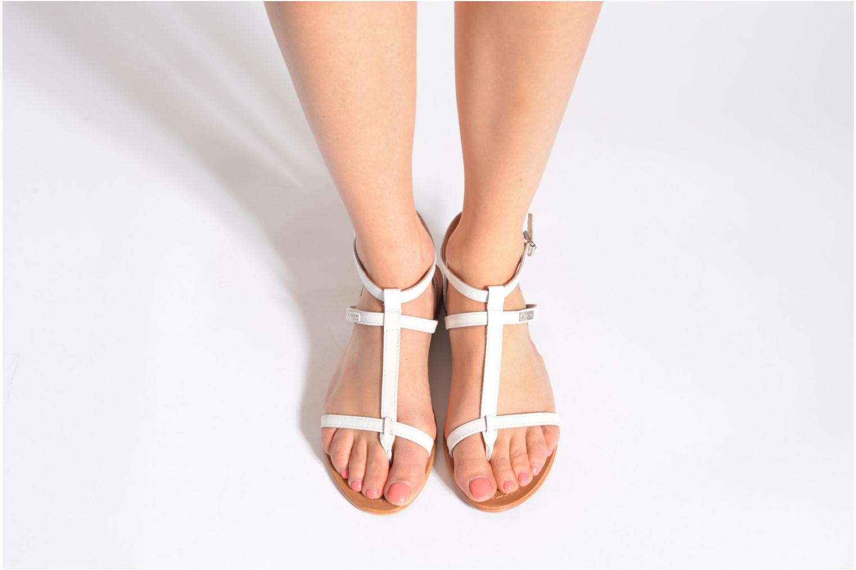 Sandales et nu-pieds Les Tropéziennes par M Belarbi Hilan Blanc vue bas / vue portée sac