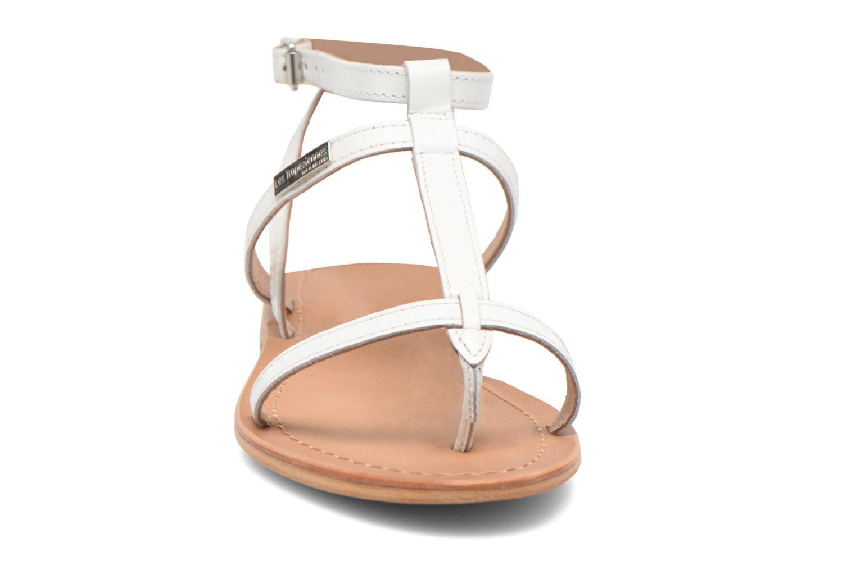 Sandales et nu-pieds Les Tropéziennes par M Belarbi Hilan Blanc vue portées chaussures