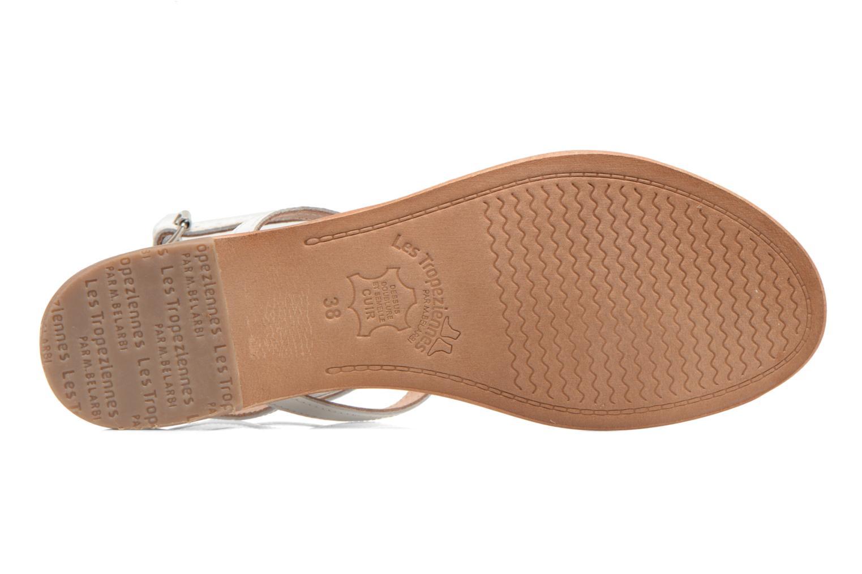 Sandales et nu-pieds Les Tropéziennes par M Belarbi Hilan Blanc vue haut