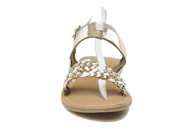 Sandales et nu-pieds Les Tropéziennes par M Belarbi Wallis E Or et bronze vue portées chaussures