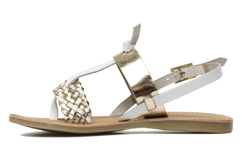 Sandales et nu-pieds Les Tropéziennes par M Belarbi Wallis E Or et bronze vue face