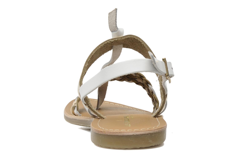 Sandales et nu-pieds Les Tropéziennes par M Belarbi Wallis E Or et bronze vue droite
