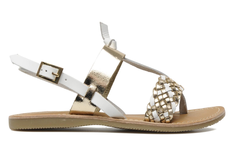 Sandales et nu-pieds Les Tropéziennes par M Belarbi Wallis E Or et bronze vue derrière